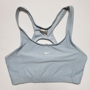 Y2K Nike Small Swoosh Logo Blue Sports Bre Medium
